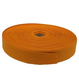 Twill tape cotton 30 mm orange