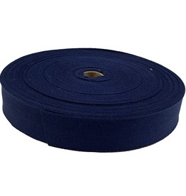 Twill tape cotton 30 mm navy