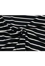Viscose Jersey stripes zwart