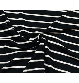 Viscose Jersey stripes zwart