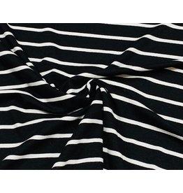 Viskose Jersey streifen schwarz