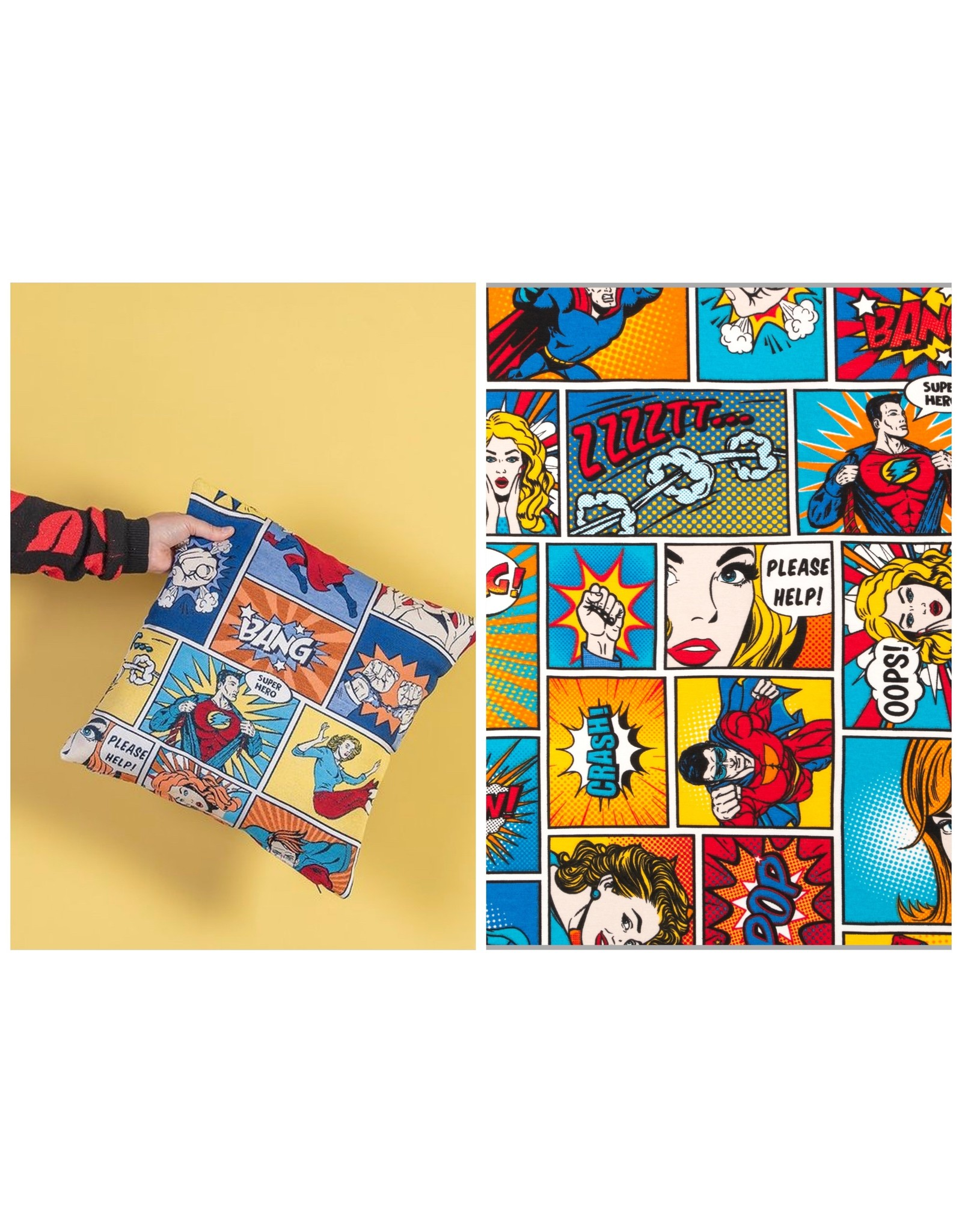 Ottoman Premium Superhero cartoon