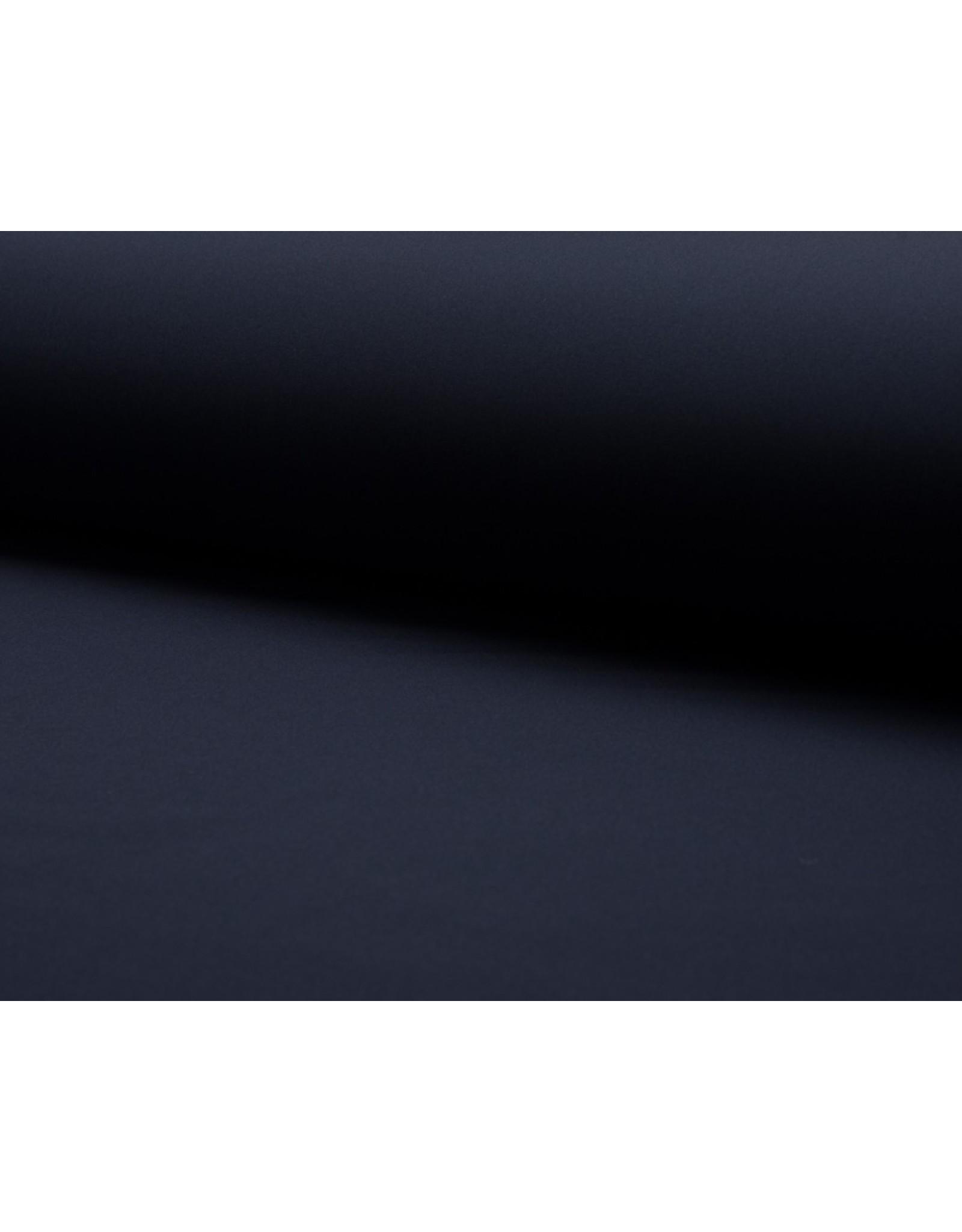 Softshell stof Uni - Navy