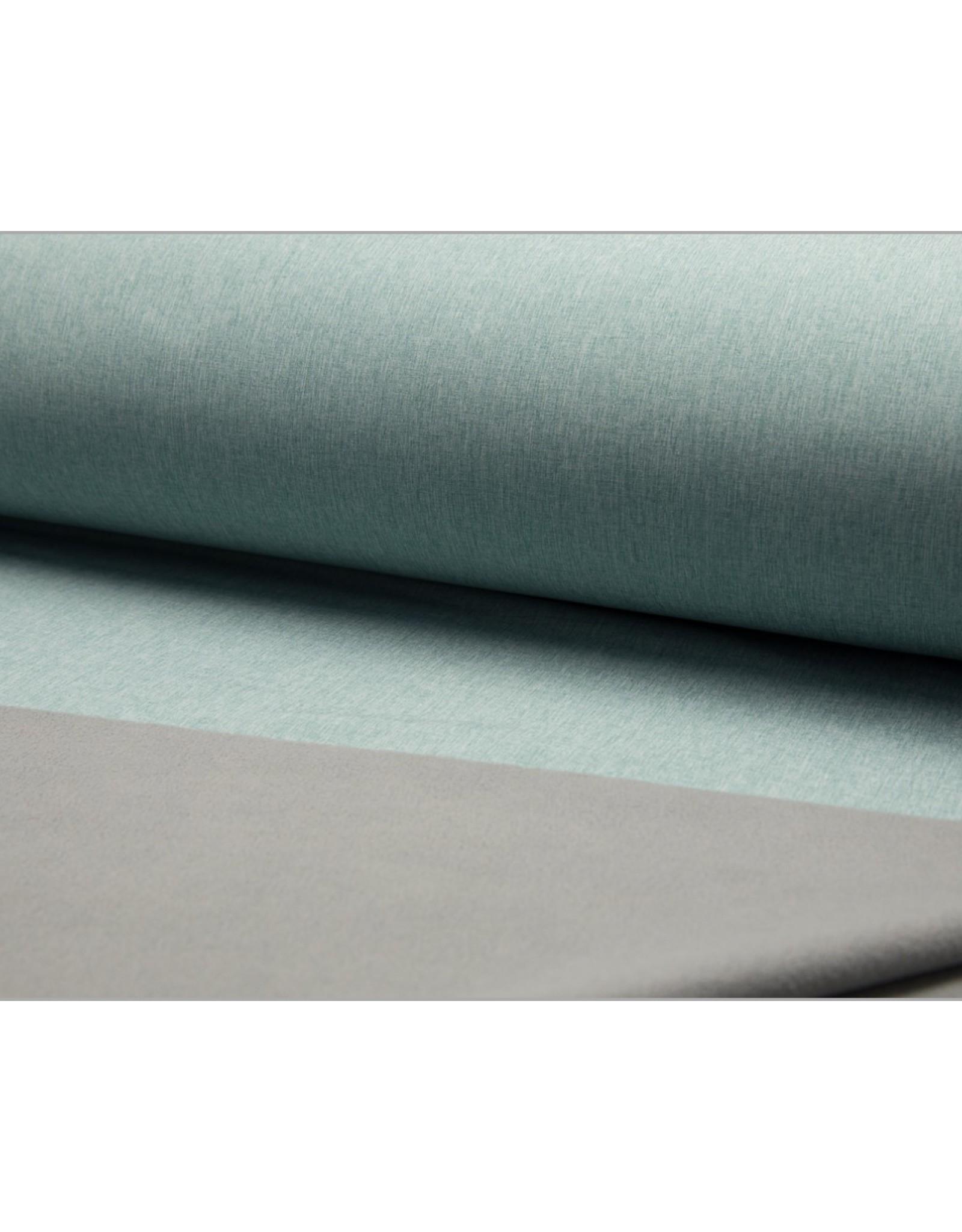 Softshell stof Uni - Mint Melange