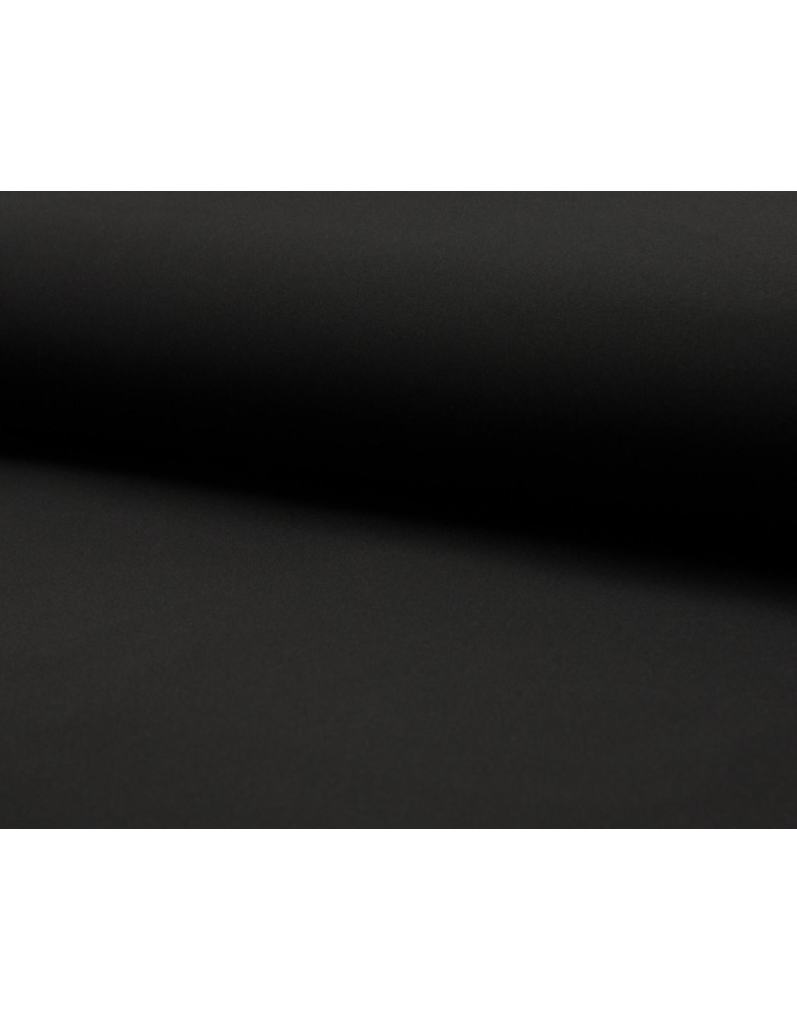 Softshell stof Uni - Zwart