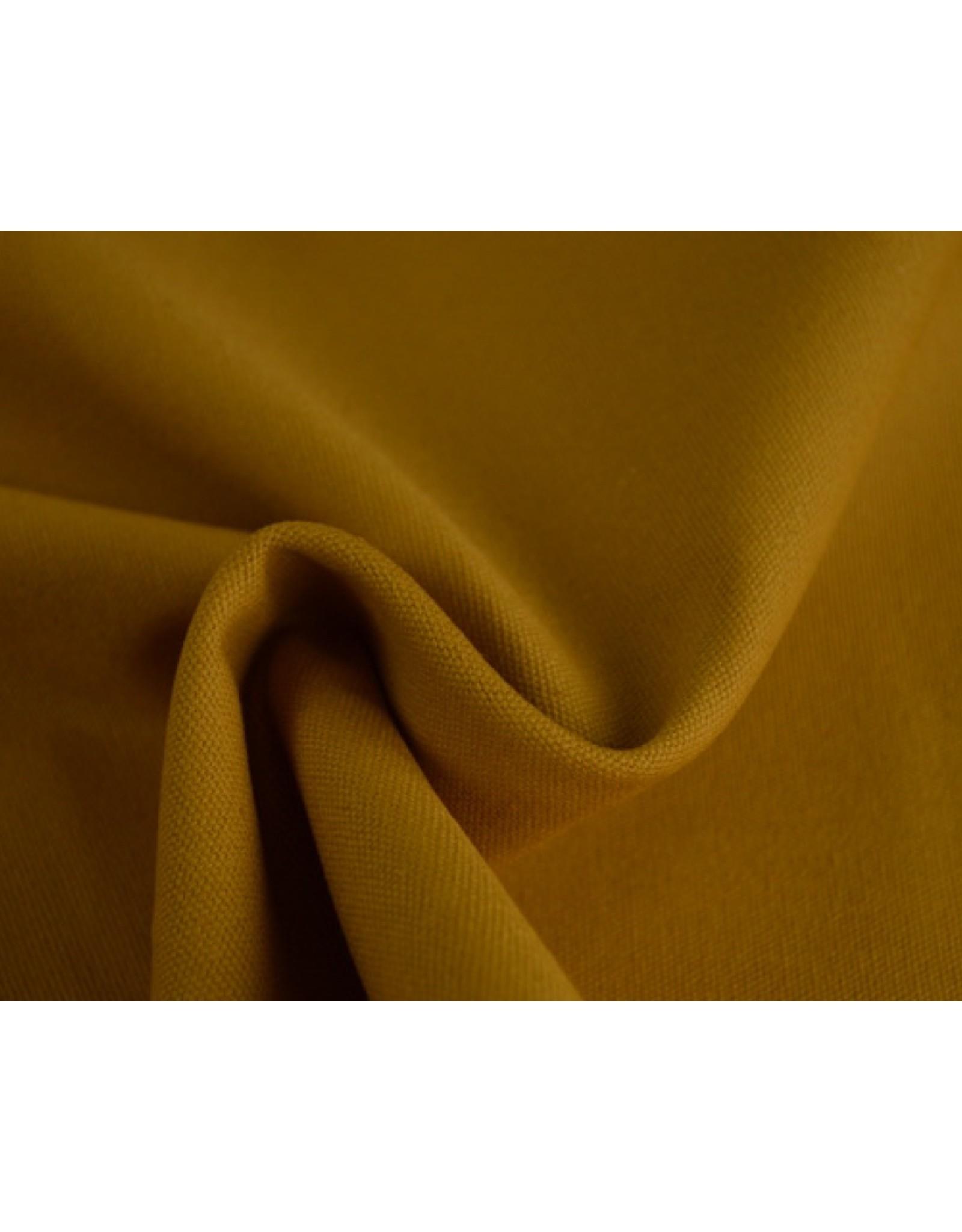 Kanvas stoff Uni - Ockergelb (350 gr/m)