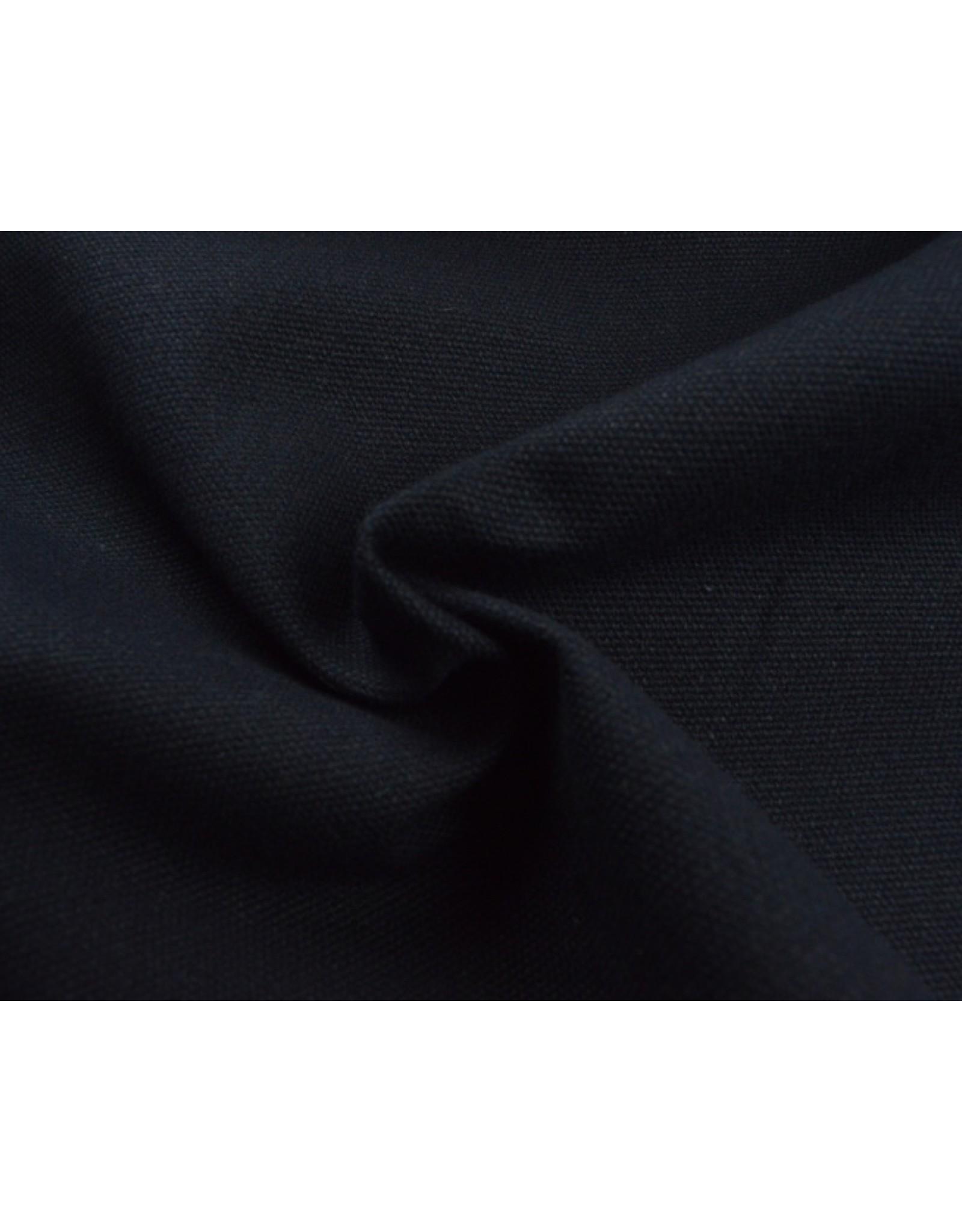Canvas stof Uni - Navy (350 gr/m)