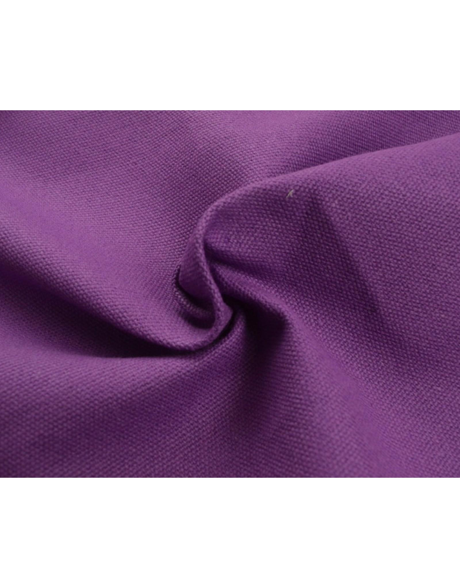 Canvas fabric Uni - Cassis (350 gr/m)