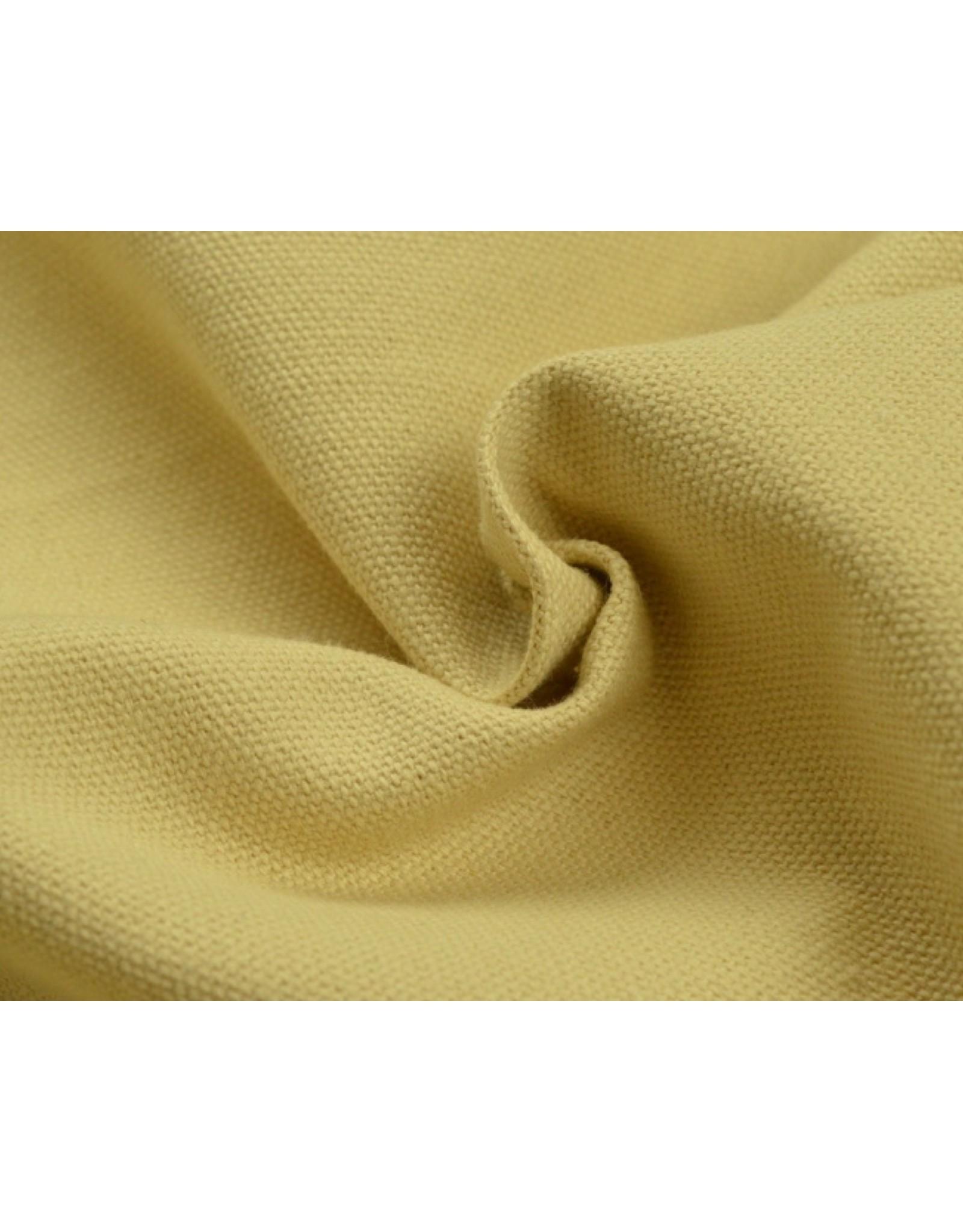Canvas stof Uni - Beige (350 gr/m)