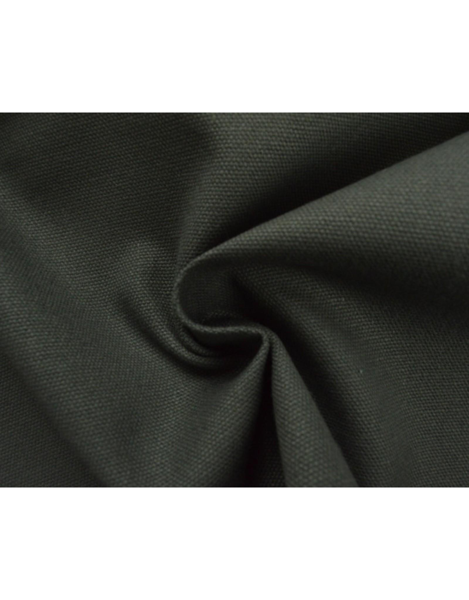 Kanvas stoff Uni - DK Grau (350 gr/m)