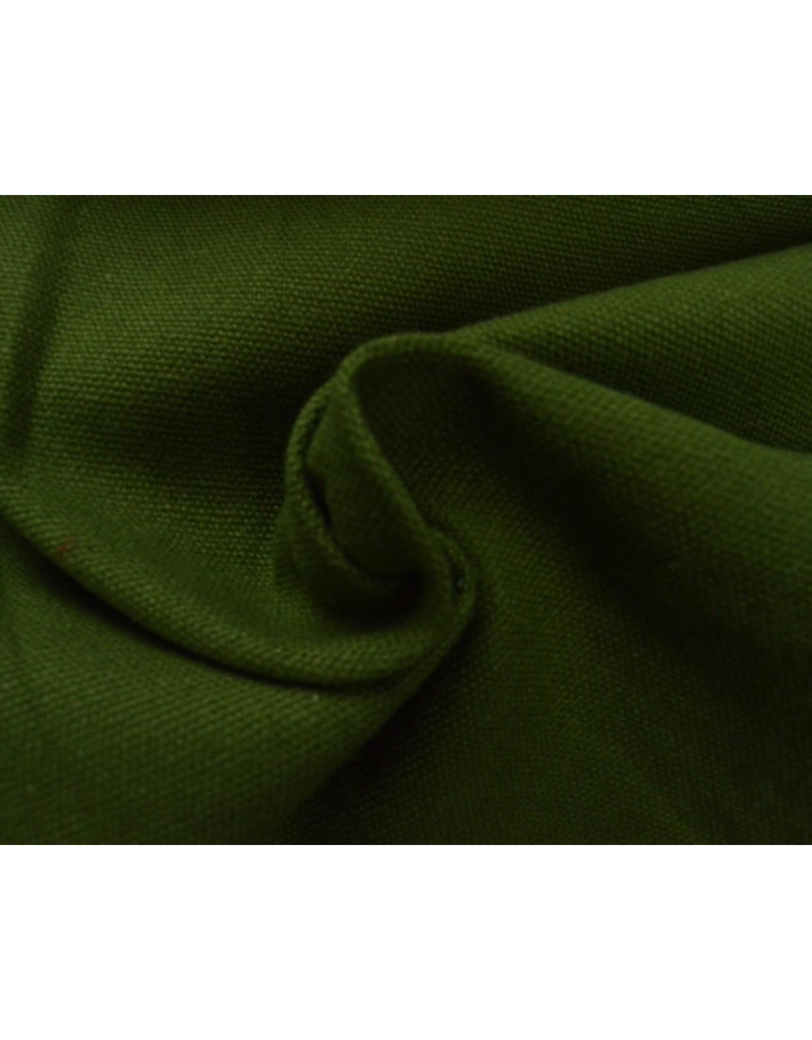 Canvas stof Uni - Groen (350 gr/m)