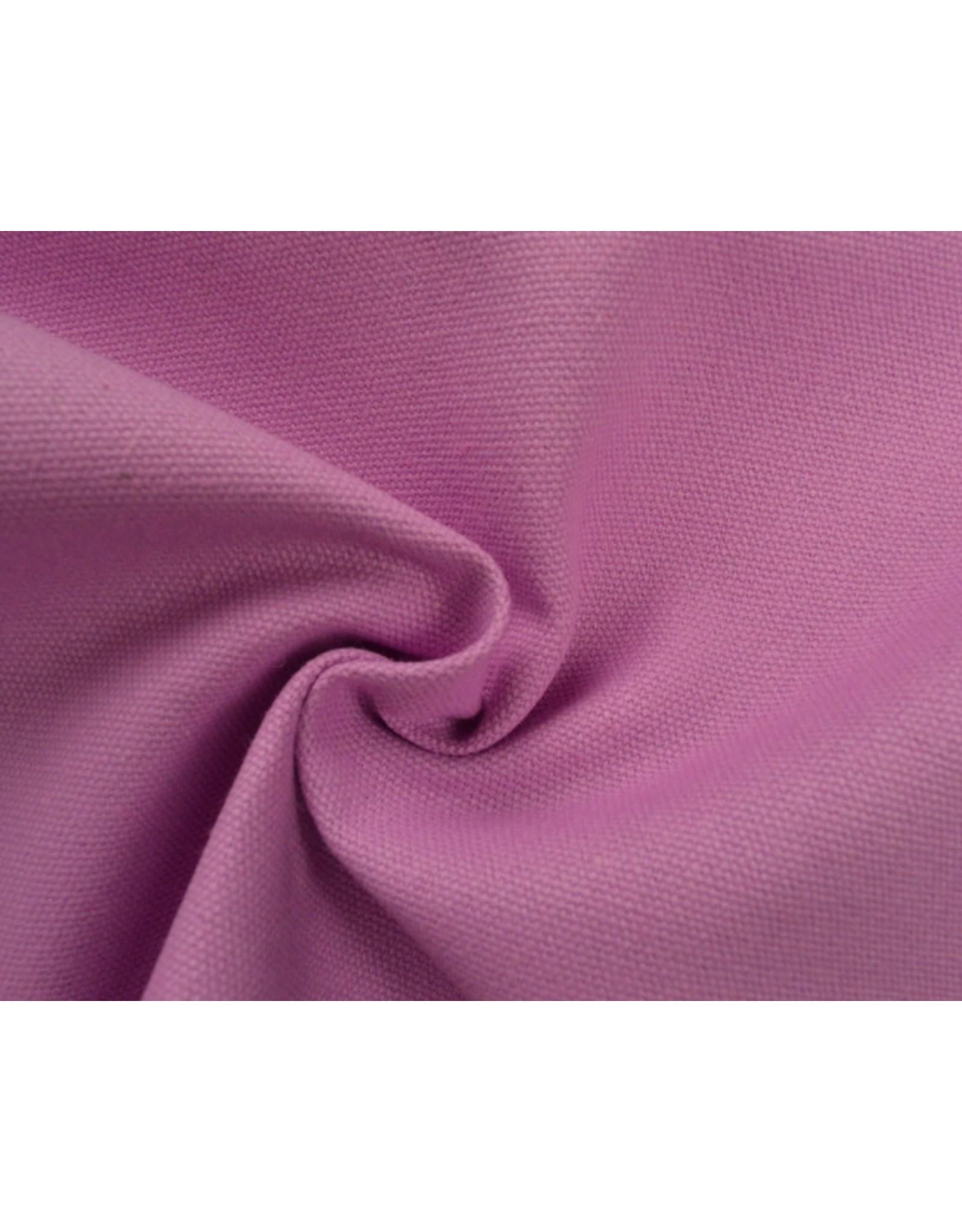 Canvas stof Uni - Roze  (350 gr/m)