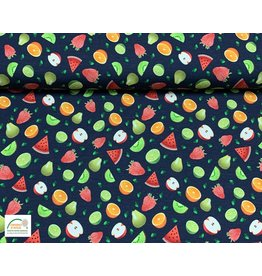 Megan Blue Fabrics Megan Blue  jersey Fruits navy