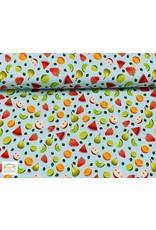 Megan Blue Fabrics Megan Blue tricot Fruits mint