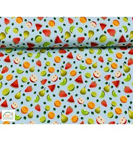 Megan Blue Fabrics Megan Blue  jersey Fruits mint