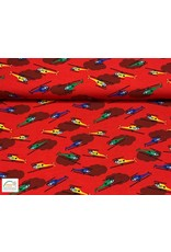Megan Blue Fabrics Megan Blue jersey Helicopter red