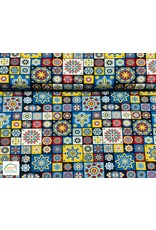 Megan Blue Fabrics Bauwmolljersey Mandala