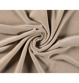 Cotton jersey Corduroy - Beige