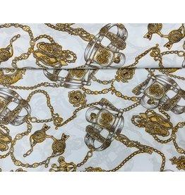 Peach tricot gold chains