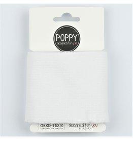 Poppy Cuff Fabric  - White