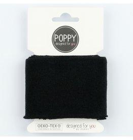 Poppy boordstof Cuff  - Zwart