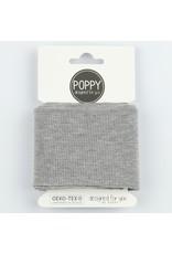 Poppy boordstof Cuff  - Grey melange