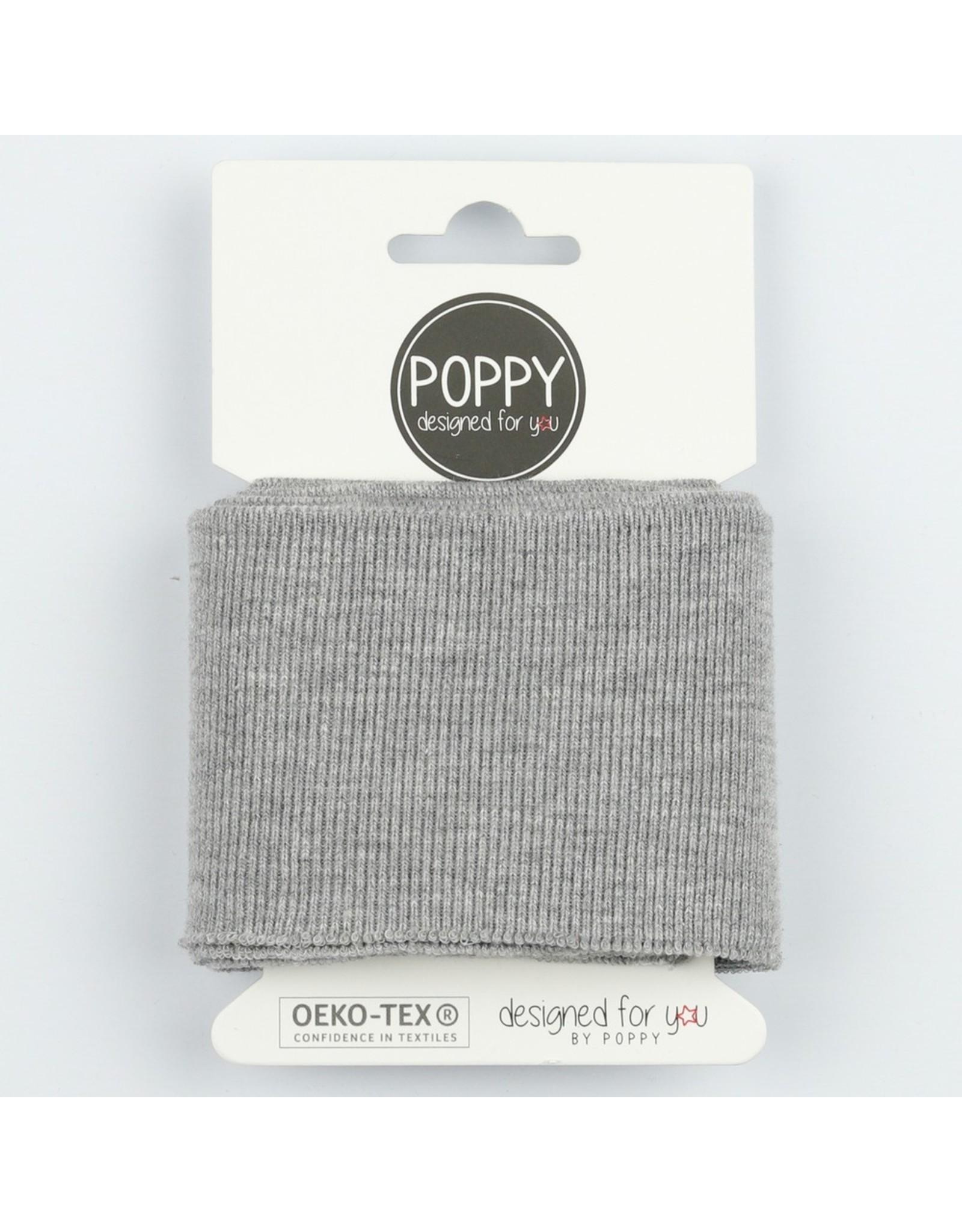 Poppy Cuff Fabric - Grey melange