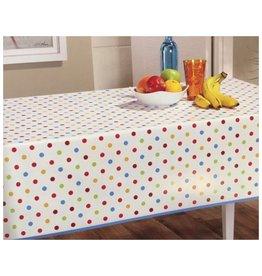 PVC Oilcloth Dots  - Multicolor