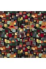 B&B Fabrics Gobelin Premium - Artistic blocks black