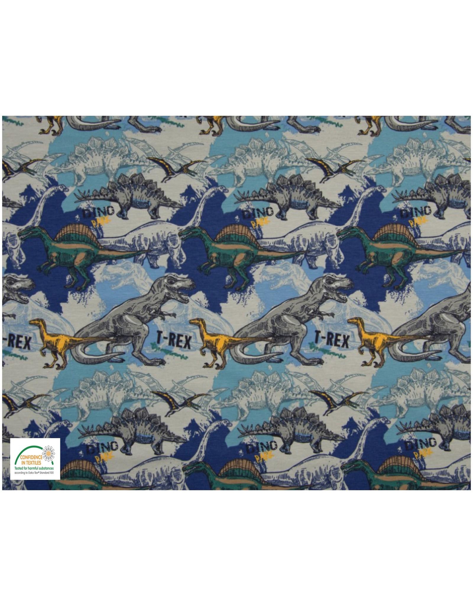 Qjutie Collection Qjutie Baumwolljersey dino's blau