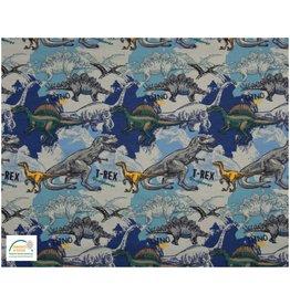 Qjutie Collection Qjutie Baumwolljersey dino - blau