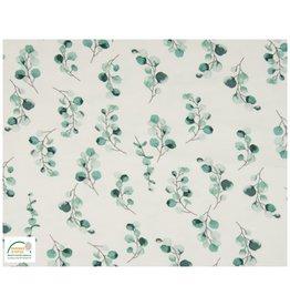 Qjutie Collection Qjutie Cotton Jersey flowers dusty green