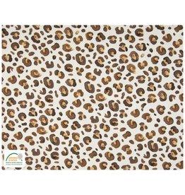 Qjutie Collection Qjutie Cotton Jersey leopard camel