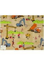 Qjutie Collection Qjutie tricot katoen construction sand