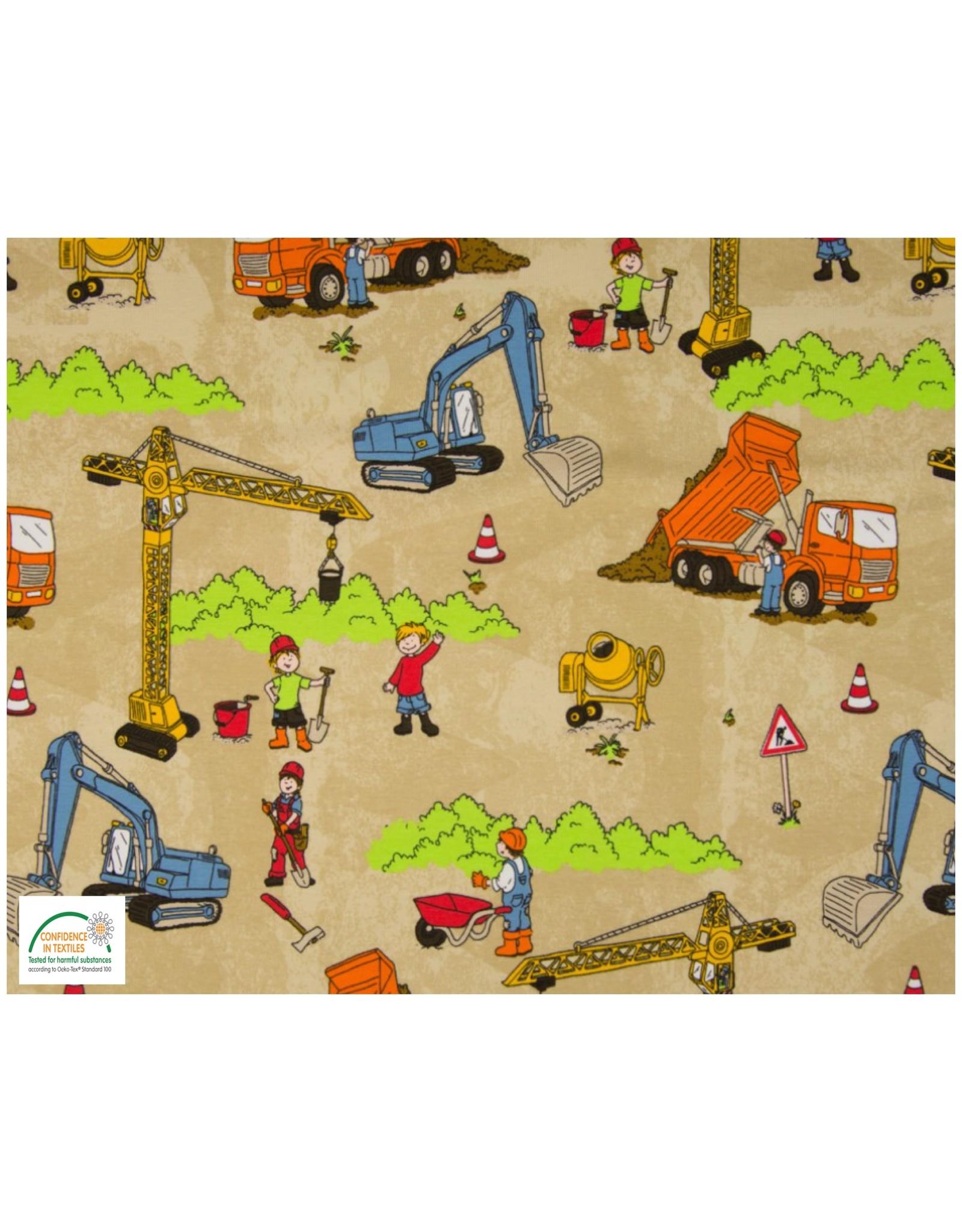 Qjutie Collection Qjutie Baumwolljersey construction sand