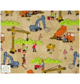 Qjutie Collection Qjutie Cotton Jersey construction sand