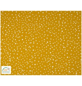 Qjutie Collection Qjutie Cotton Jersey dots - Ocre