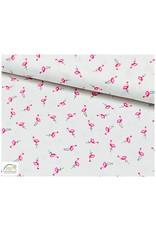 Qjutie Collection Qjutie Kids poplin katoen flamingo's