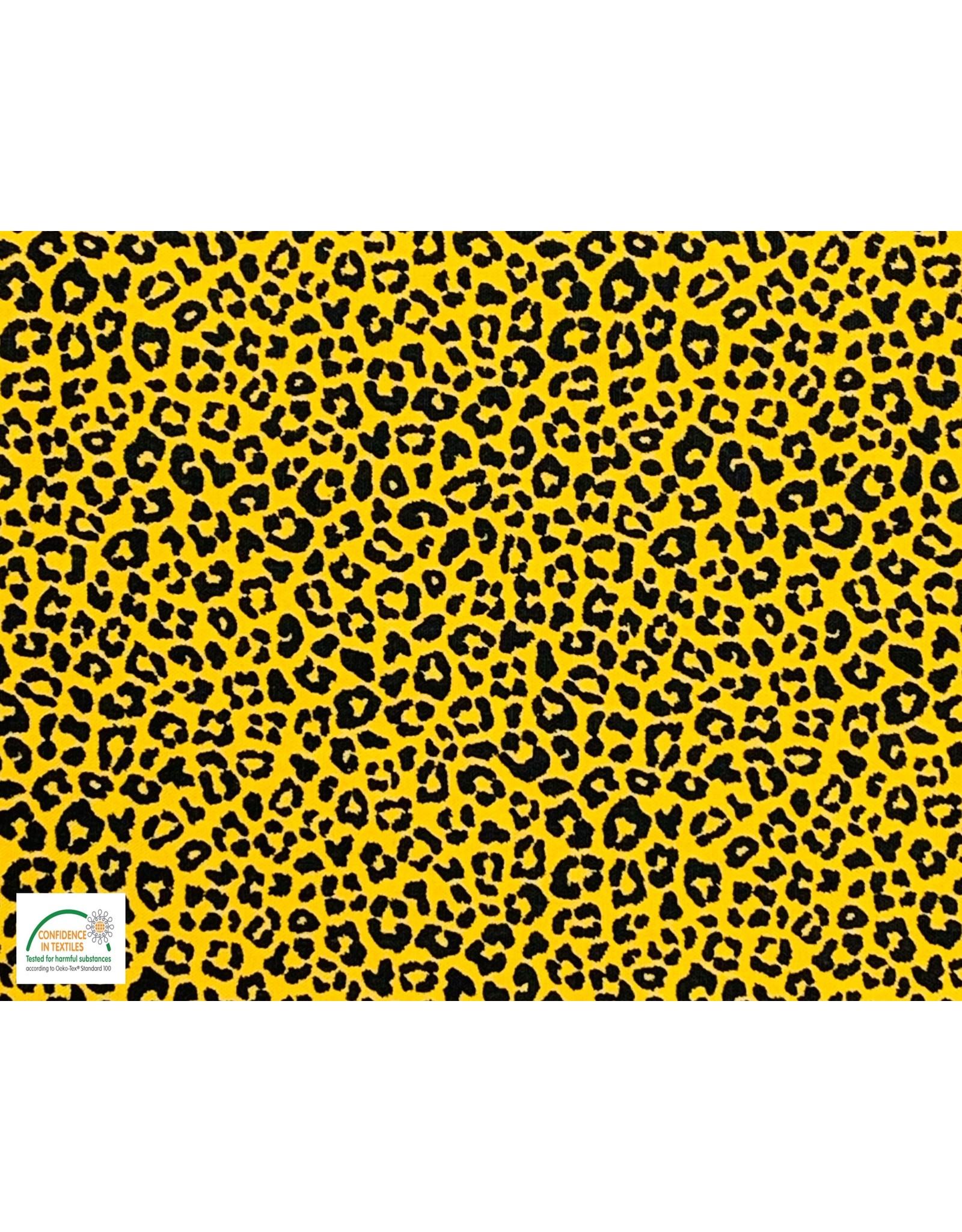 Qjutie Collection Qjutie Kids poplin katoen leopard oker