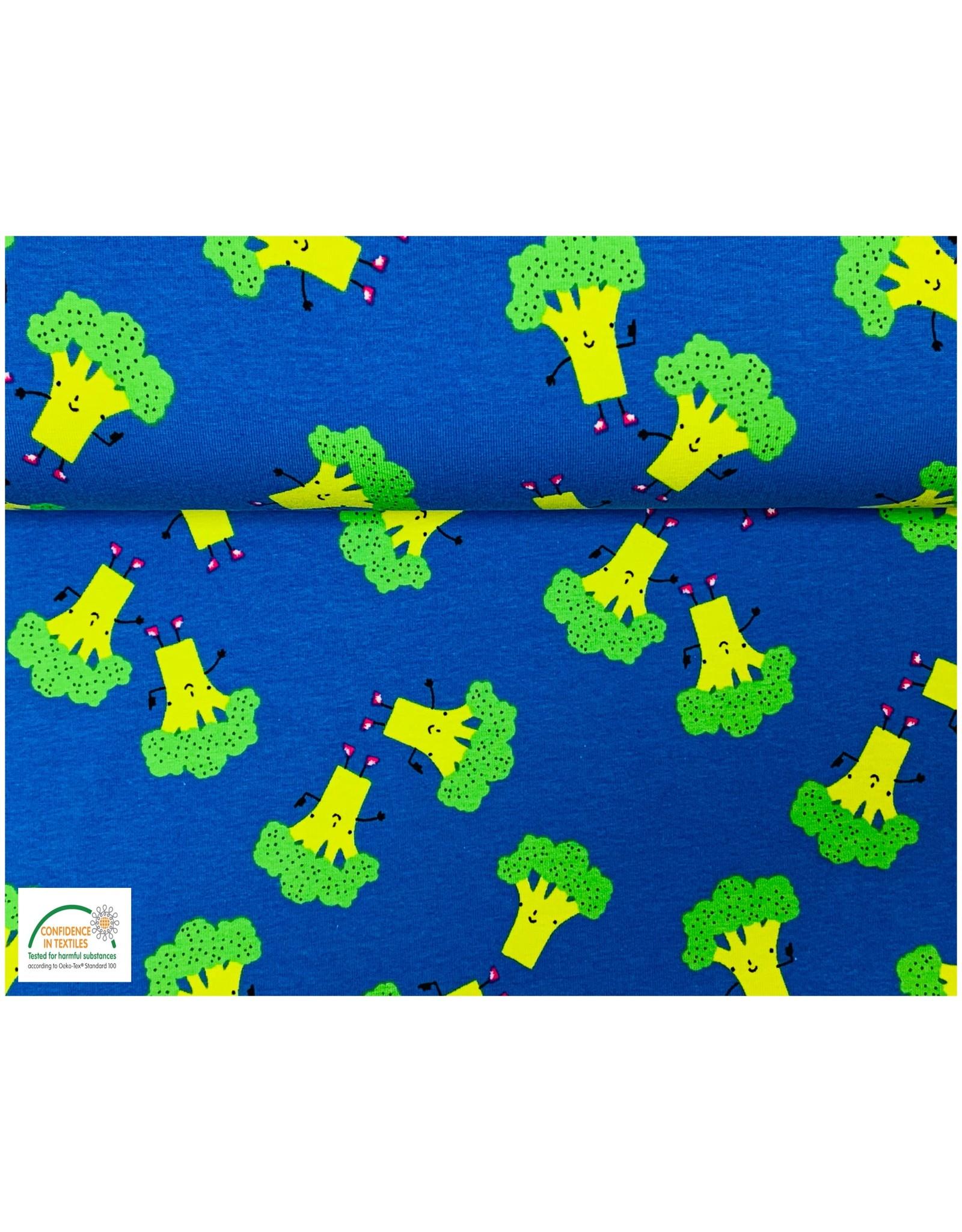 Tricot katoen Broccoli - Kobalt
