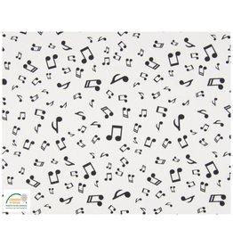 Qjutie Collection Qjutie Kids poplin katoen muzieknoten