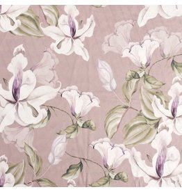 Nobodeco Home Samt stoff Flowers Rosé