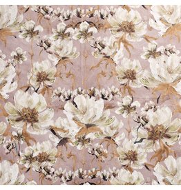 Nobodeco Home Velvet fabric Flowers Rosé