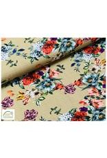 Megan Blue Fabrics Megan Blue tricot Flowers