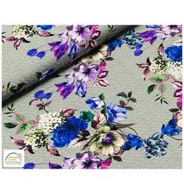 Megan Blue Fabrics Megan Blue jersey Flowers