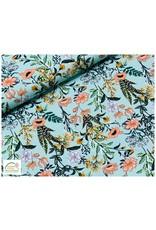 Megan Blue Fabrics Bauwmolljersey Sanseveria