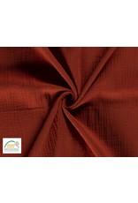 Musselin stoff Baumwolle Copper Orange