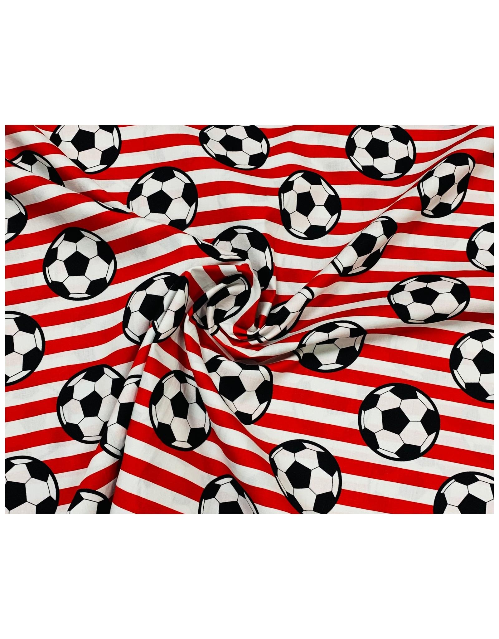 Poplin Katoen Voetbal