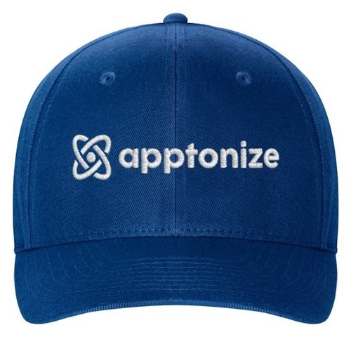 Blue Flexfit Structured Twill Cap