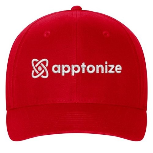 Red Flexfit Structured Twill Cap
